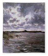 A Lake In The Netherlands Fleece Blanket