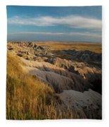 A Landscape Image Of Badlands National Fleece Blanket