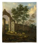 A Landscape With A Ruined Archway Fleece Blanket
