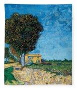 A Lane Near Arles Fleece Blanket