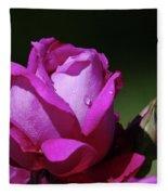 A Light Blue Rose  Fleece Blanket