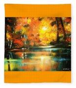 A Light In The Forest Fleece Blanket