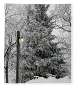 A Light Snow Fleece Blanket