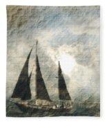 A Light Through The Storm - Sailing Fleece Blanket