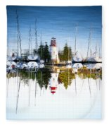 A Lighthouse Fleece Blanket
