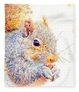 A Little Bit Squirrely Fleece Blanket