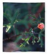 A Little Peach Flower Bud Fleece Blanket