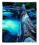 A Log Over Rapids Fleece Blanket
