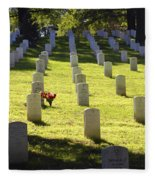 A Lone Remembrance Fleece Blanket