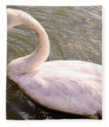 A Lone Swan Named Gracie Fleece Blanket