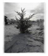 A Lonely Little Prairie Ceder Fleece Blanket