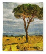 A Lonely Pine Fleece Blanket