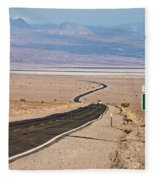 A Long Road Through Death Valley Fleece Blanket