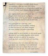 A Love Poem Fleece Blanket