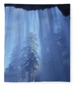 A Low Angle View Of Vernal Falls, North Fleece Blanket