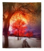A Magic Winter Fleece Blanket