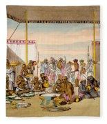 A Mahratta Surdar Entertaining Fleece Blanket