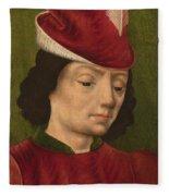 A Male Figure Perhaps Saint Sebastian A Fleece Blanket