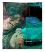 A Man And His Music - James Brown Featured In 'abc Group' And Comfortable Art Group Fleece Blanket