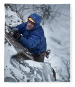 A Man Ascends A Dramatic, Challenging Fleece Blanket