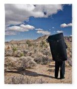 A Man Looks Into The Distance Fleece Blanket