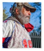 A Man With A Purpose Fleece Blanket