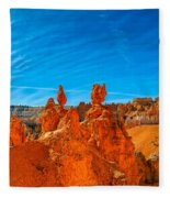 A Martian Earth Fleece Blanket