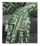 A Maze Ing Hand Fleece Blanket