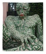 A Maze Ing Man 1 Fleece Blanket