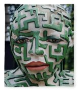 A Maze Ing Man 3 Fleece Blanket