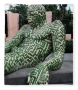 A Maze Ing Man 5 Fleece Blanket