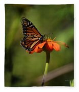 A Monarch Butterfly 2 Fleece Blanket