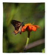 A Monarch Butterfly 3 Fleece Blanket