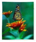 A Monarch Fleece Blanket