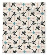A Monkey Design Fleece Blanket