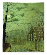 A Moonlit Road Fleece Blanket