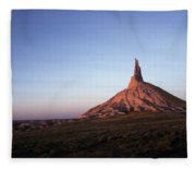 A Mountain Surrounded By Prairies Fleece Blanket