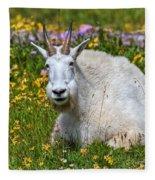 A Mouthful Of Flowers Fleece Blanket
