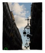 A Necklace Of Barcelona Streetlamps Fleece Blanket