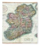 A New Map Of Ireland 1799 Fleece Blanket