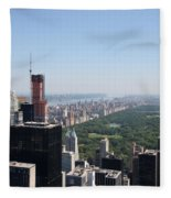 A New Skyscraper In Nyc Skyline Fleece Blanket