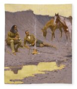 A New Year On The Cimarron Fleece Blanket