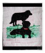 A Newfoundland Dog And A Labrador Retriever Fleece Blanket