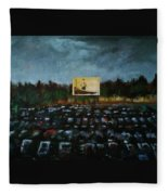 A Night At The Drive In Fleece Blanket