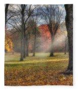 A November Morning Square Fleece Blanket