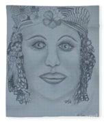 A Nubian Princess Fleece Blanket