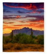 A Painted Desert  Fleece Blanket