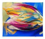A Painted Tulip. Fleece Blanket
