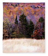 A Painting Autumn Field Fleece Blanket