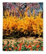 A Painting Springtime 2 Dali-style Fleece Blanket
